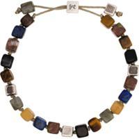 M. Cohen Pulseira Em Prata De Lei Com Pedras - Multicoloured