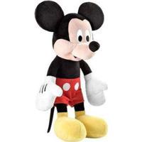 Pelúcia Mickey Mouse Emite Sons - 40Cm - Unissex-Preto+Vermelho