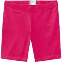 Shorts Pink Esportivo Em Cotton