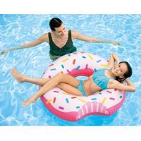 Boia Donut Branca E Rosa 56265 Intex