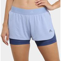 Short Adidas 2In1 Climachill - Feminino - Feminino-Azul