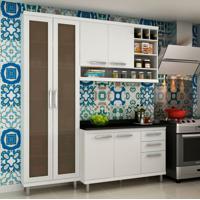 Cozinha Compacta New Vitoria I 6 Pt 3 Gv Branco