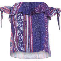 Blusa Feminina Hmong Batik Purple Haze - Azul