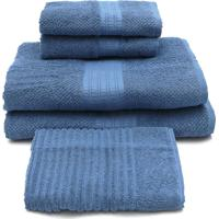 Jogo De Banho Buddemeyer 5 Pã§S Frape Azul 90X150 - Azul - Dafiti