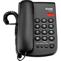 Telefone Com Fio Tcf 2000 - Elgin - Preto