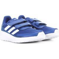Tênis Juvenil Adidas Tensaur Run C Velcros - Unissex-Azul+Branco