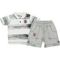 Netshoes  Conjunto Polo Shorts Meia Malha Oxford Menino Corinthians Reve  Dor - 6 Anos - Masculino e36b403a698e1