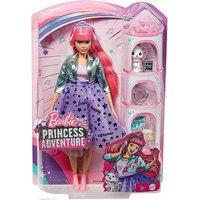 Boneca Barbie Princess Adventure Vestido Lilias Mattel - Vestido Lilas Casaco Vd Mattel