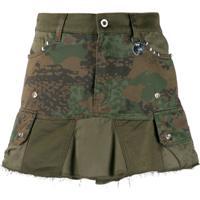 Diesel Camouflage Studded Mini Skirt - Verde