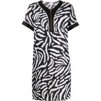 Escada Sport Zebra-Print Shift Dress - Preto