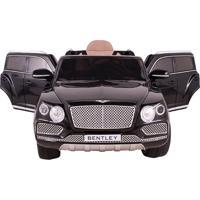 Carro Elet. Bentley Bentayga Banco De Couro R/C Preto 12V Belfix