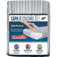 Capa De Colcháo Solteiro Com Elastano 90X190Cm Cinza Fibrasca 3033 Fibrasca