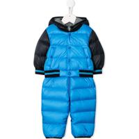 Moncler Kids Hooded Padded Snowsuit - Azul