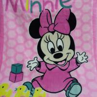 Cobertor Infantil Jolitex Raschel Minnie Brincando Rosa - Kanui