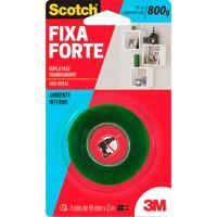 Fita Adesiva Dupla Face Scotch Fixa Forte Transparente 19Mm X 2M Com 1 Rolo