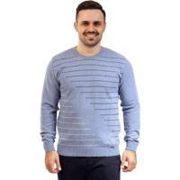 Blusa De Malha Gola Redonda Sumaré Masculina - Masculino-Azul Claro
