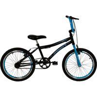 Bicicleta Top Aro 20 Atx Preta E Azul Athor Bike