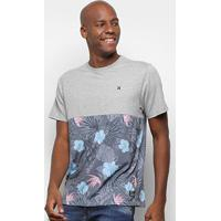 Camiseta Hurley Especial Nature Flowers Masculina - Masculino