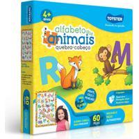 Quebra Cabeça - Alfabeto Dos Animais - 120 Peças - Toyster - Unissex-Incolor