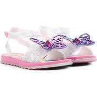 Sandália Infantil Grendene Kids Barbie Borboleta Feminina - Feminino-Rosa+Branco