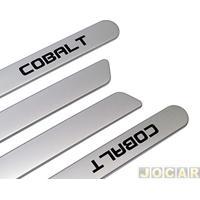 Friso Lateral - Cobalt 2011 Até 2015 - Prata Polares - Autoadesivo - Jogo