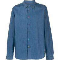 Ps Paul Smith Camisa Jeans De Alfaiataria - Azul