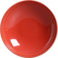 Prato Fundo Sevilha Cerâmica 6 Peças Vermelho Porto Brasil