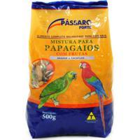 Ração Para Pássaros Pássaro Forte Mistura Para Papagaios Com Frutas Araras E Cacatuas Com 500G