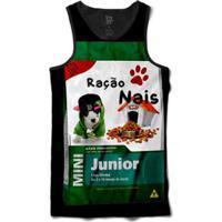 Regata Lf Ração Nais Junior Sublimada Masculina - Unissex-Preto