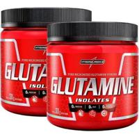 Kit 2X Glutamine Isolates Natural 300G Integralmedica - Unissex
