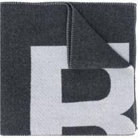 Isabel Marant Echarpe Oversized Com Logo - Cinza
