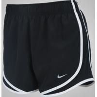 Shorts Nike Dry Tempo Running - Feminino - Preto/Branco