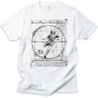 Camiseta Futebol Cool Tees Jogador Da Vinci Masculino - Masculino-Branco