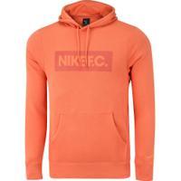Blusão De Moletom Com Capuz Nike F. C. Fleece - Masculino - Laranja
