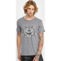 Camiseta Triton Estampa Tigre Masculina - Masculino-Mescla