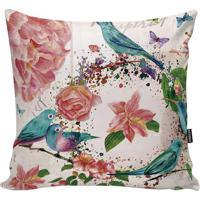 Capa Para Almofada Birds- Rosa Claro & Azul Turquesastm Home