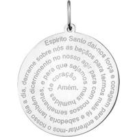 Pingente Espírito Santo Em Prata 925 - Unissex-Prata