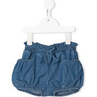 Chloé Kids Short Jeans Com Ajuste No Cós - Azul