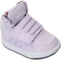 Tênis Infantil Adidas Hoops Mid 2.0 - Unissex-Roxo