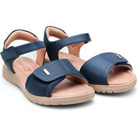 Sandália Comfortflex Papete Velcro Feminina - Feminino
