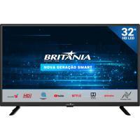 Tv 32 Polegadas Hd Led Smart Britânia Bivolt