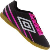 Chuteira Futsal Umbro Light Control Ic - Adulto - Preto/Rosa