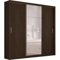 Guarda-Roupa Casal Com Espelho Residence Ii 3 Pt 2 Gv Ébano