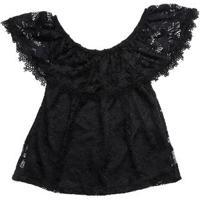 Blusa Ciganinha Juvenil Para Menina - Preto