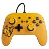 Controle Power-A Com Fio Nintendo Switch Pixel Pikachu