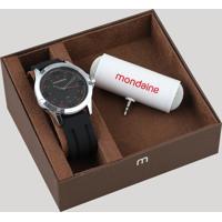 Kit De Relógio Analógico Mondaine Masculino + Caixa De Som - 99188G0Mvni2K1 Prateado - Único
