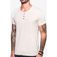 Camiseta Henley Linho 103548