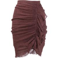 Masscob Ruched Fitted Skirt - Marrom