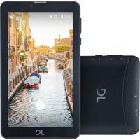 """Tablet Dl Mobi 7"""" Wi-Fi 8Gb Quad Core Tx384 Preto"""