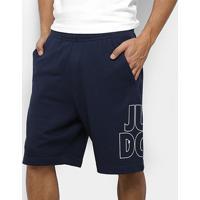 Bermuda Nike Nsw Jdi Ft Masculina - Masculino-Marinho+Branco